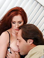 Catherine Desade sucks a huge cock and gets fucked hard in the kitchen by her husband